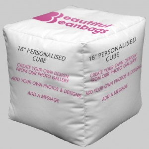 Personalised photo cube beanbag cube