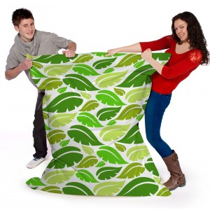 Printed Beanbags colourful leaf