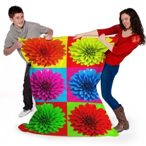 Printed pop art flower beanbag