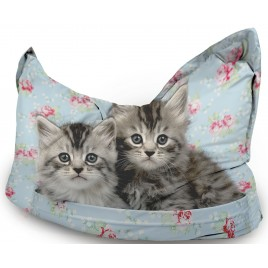 Cute Cats printed beanbag