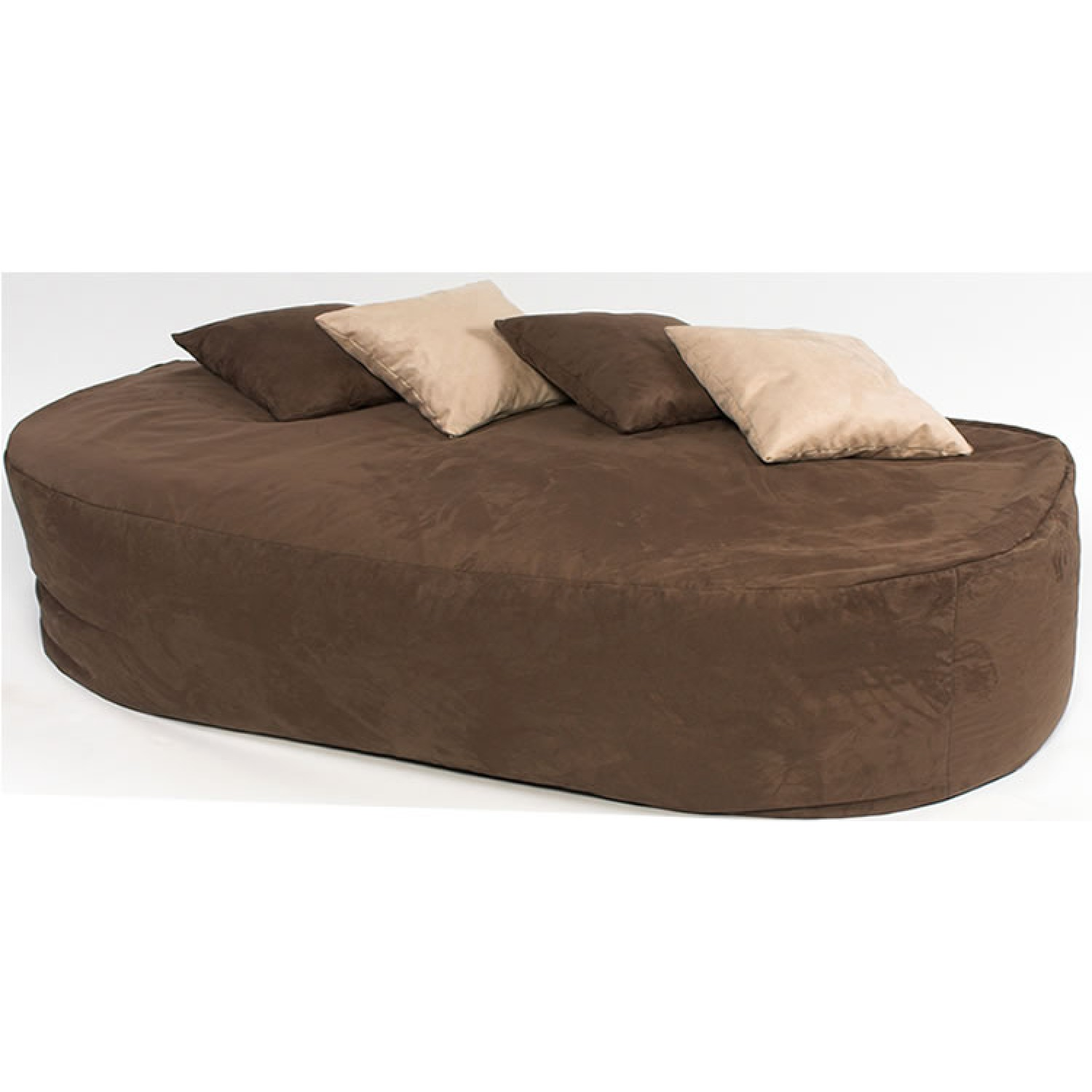 6 ft bed sofa faux suede for Suede couches for sale