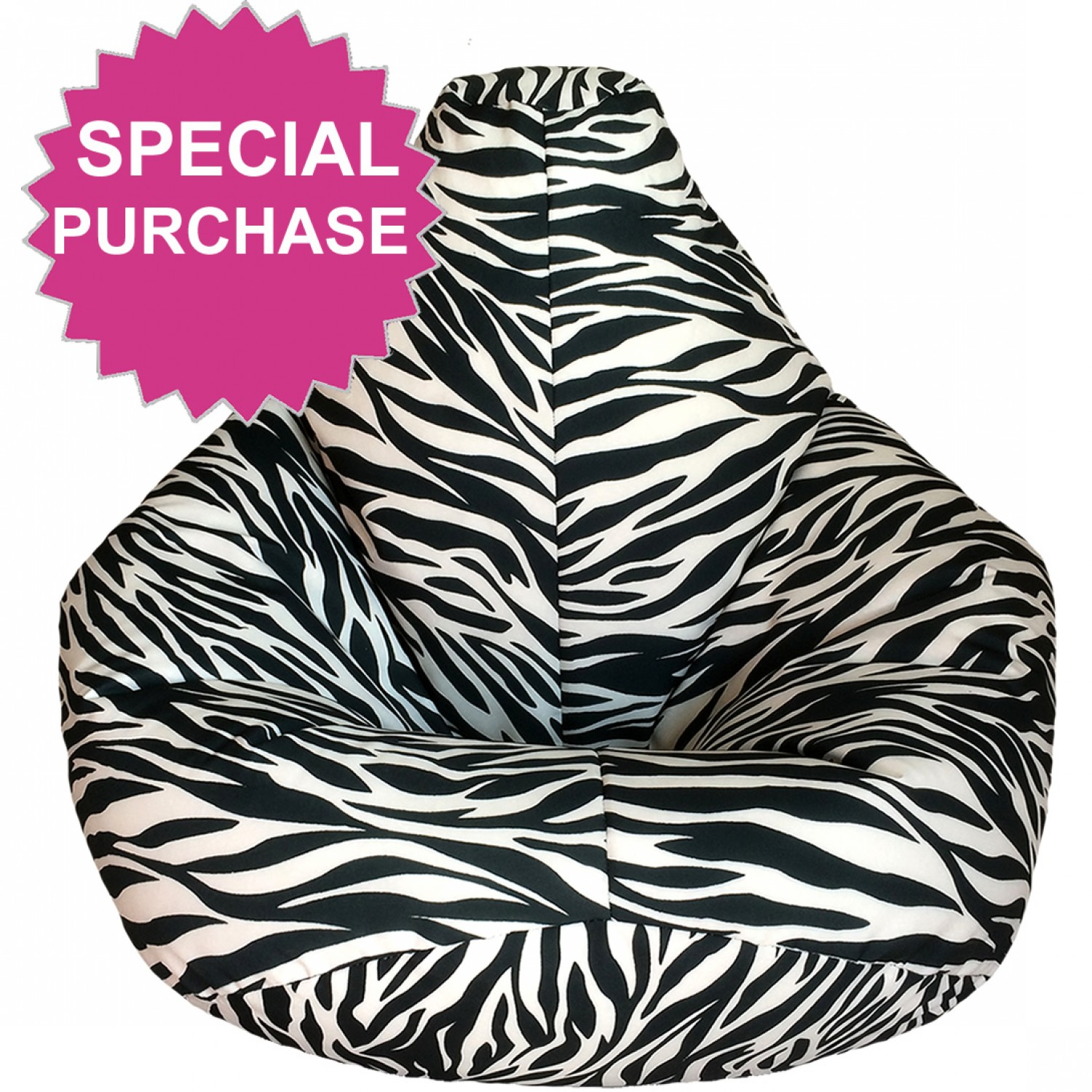 Adult Highback Beanbag For Indoors Or Outdoors