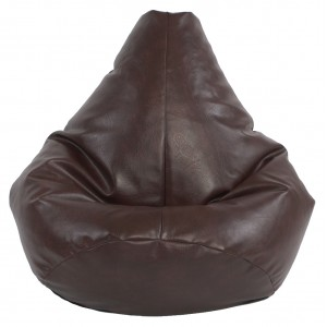 Adult Highback Faux Leather Beanbag Adult