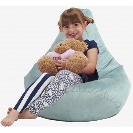 Kids Highback Faux Suede Beanbag Kids