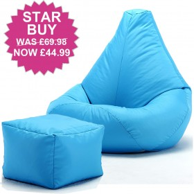 Adult Highback Beanbag and footstool for indoors or Outdoors