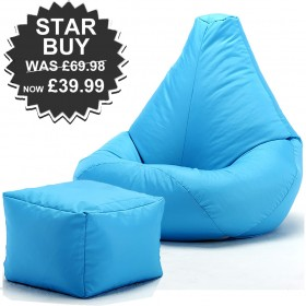 Highback Beanbag and footstool for indoors or Outdoors