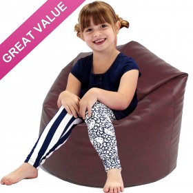 Kids Classic Faux Leather Beanbag Kids