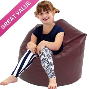 Kids Classic Faux Leather Beanbag