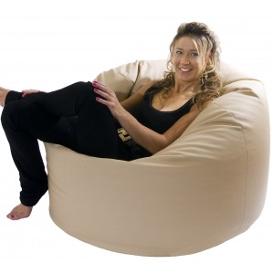 Mega Classic Faux Leather Beanbag