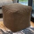 Footstool Plush Jumbo Cord Cube  Large
