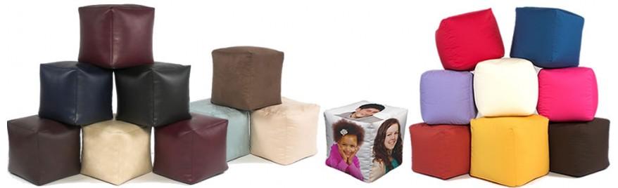 Beanbag cube footstools