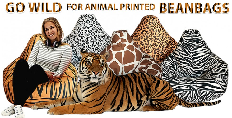 Go wild for animal printed beanbags