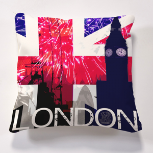 Iconic London Big Ben Cushion OFFICIAL AND LICENSED MERCHANDISE Cushions