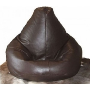 Real Leather Highback Beanbag Real Leather