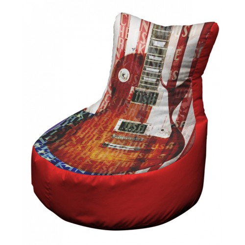 USA guitar red OFFICAL AND LICENSED MERCHANDISE was £99.99 Printed Beanbags