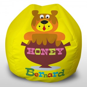 printed Bernard beanbags