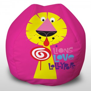 Lion Loves Lollies childrens beanbags