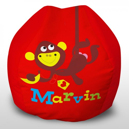 Marvin the monkey printed beanbag
