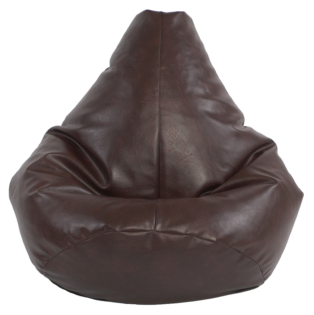 Adult Highback Faux Leather Beanbag