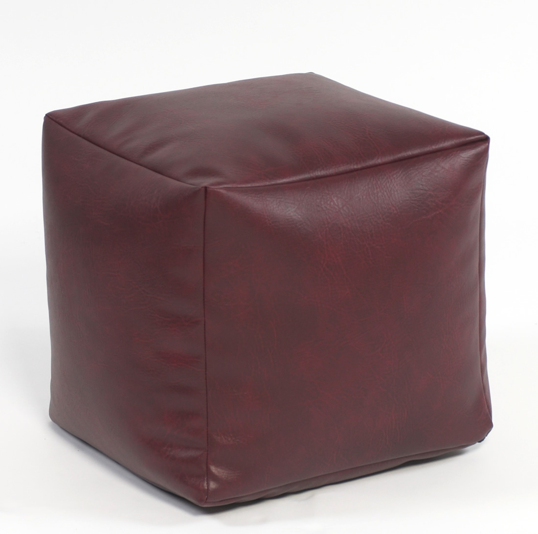 Footstool Cube Faux Leather