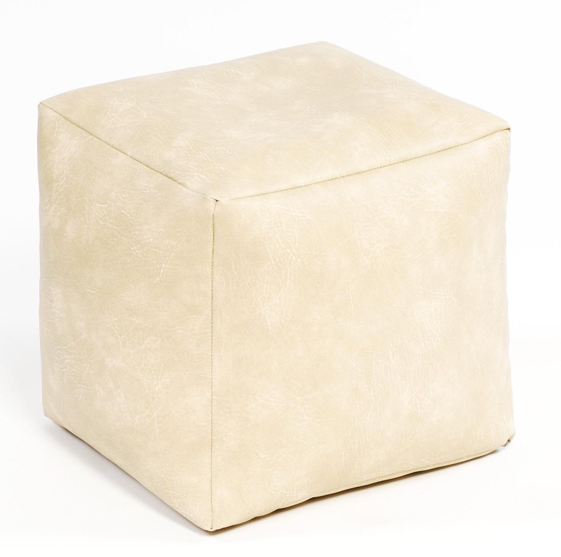 Excellent Footstool Cube Faux Leather Creativecarmelina Interior Chair Design Creativecarmelinacom