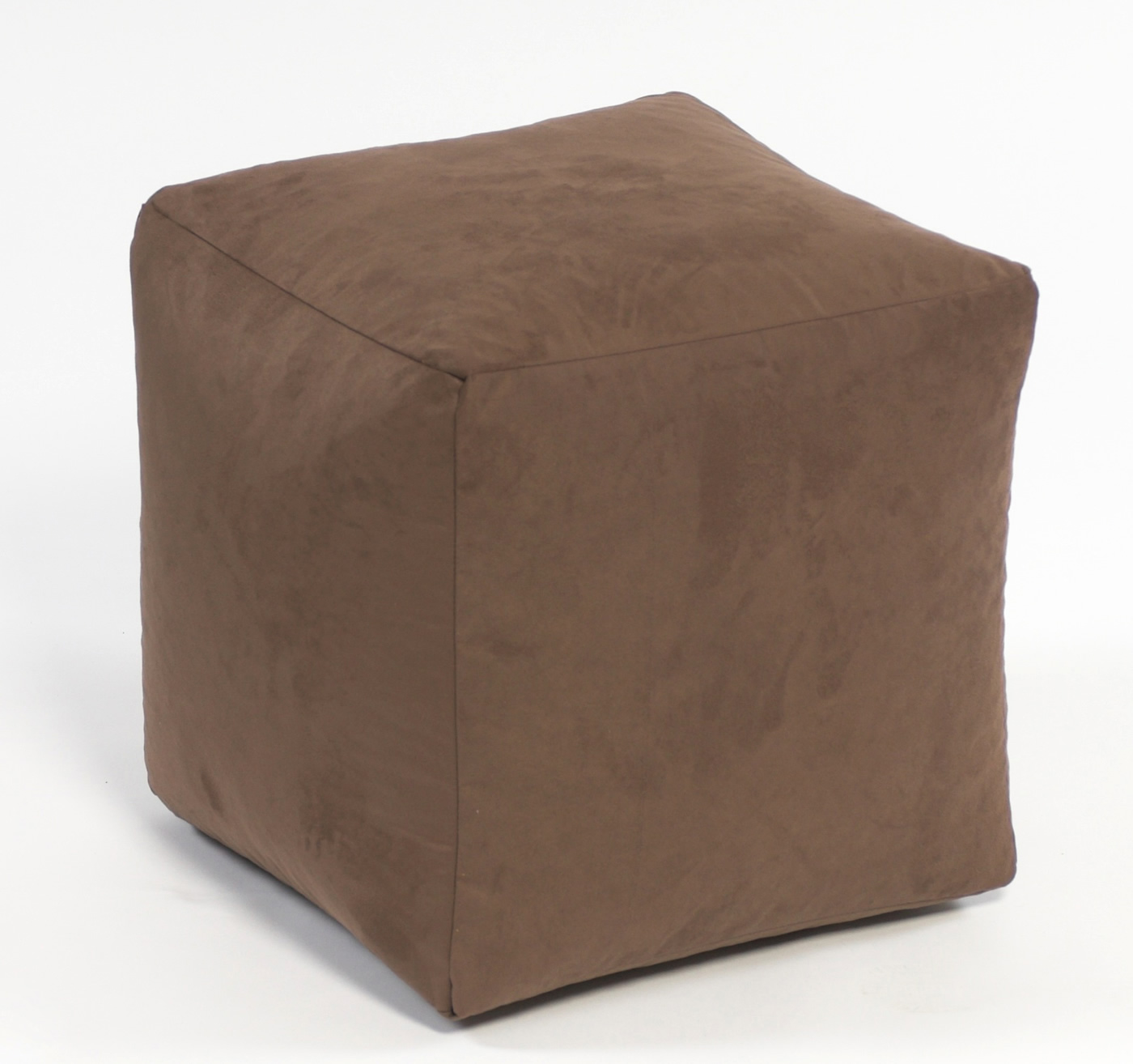 Footstool Cube Faux Suede