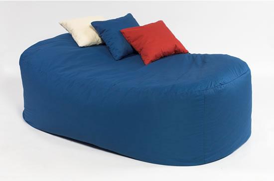 16cuf COTTON BEANBAG BED BEAN BAG SOFA FILLED BLUE