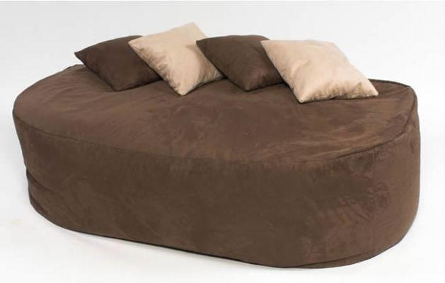 16cuf faux suede beanbag bed bean bag sofa filled brown ebay. Black Bedroom Furniture Sets. Home Design Ideas